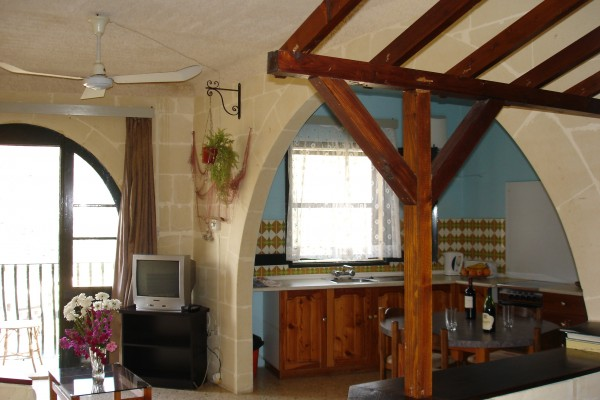 Apartments Xlendi Heights Gozo Living Area and Kitchen
