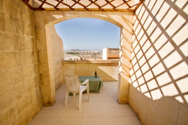 Casa Sammy Farmhouse Gozo terrace with view