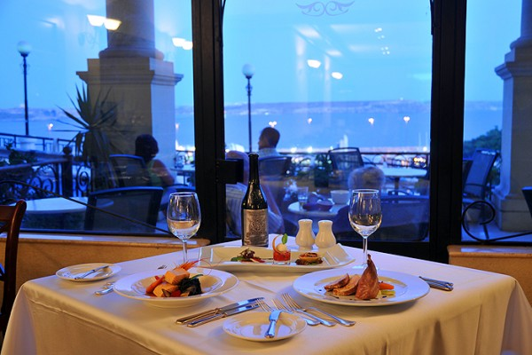 Restaurant at the Grand Hotel Gozo
