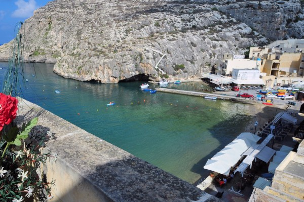 View overlooking Xlendi Bay from Hotel San Andrea