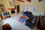 Ta' Tonina Farmhouse living area with fireplace