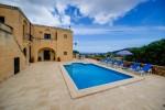 Pool area and view Ta' Tonina Farmhouse Gozo