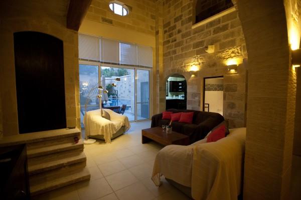 Tilmun Farmhouse living area Gozo Malta