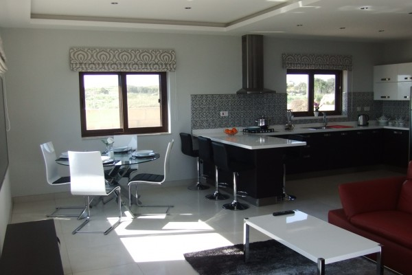 Villa Veduta Living Area, Dining Area and Kitchen
