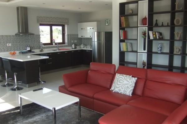 Villa Veduta Gozo Living Area and Kitchen