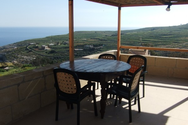 Villa Veduta terrace with view